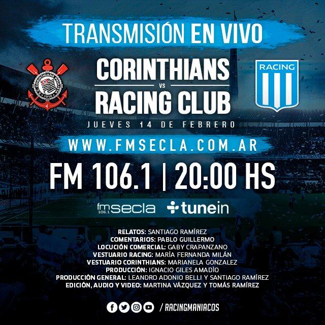Santiago Ramírez 🎙️'s photo on Corinthians x Racing