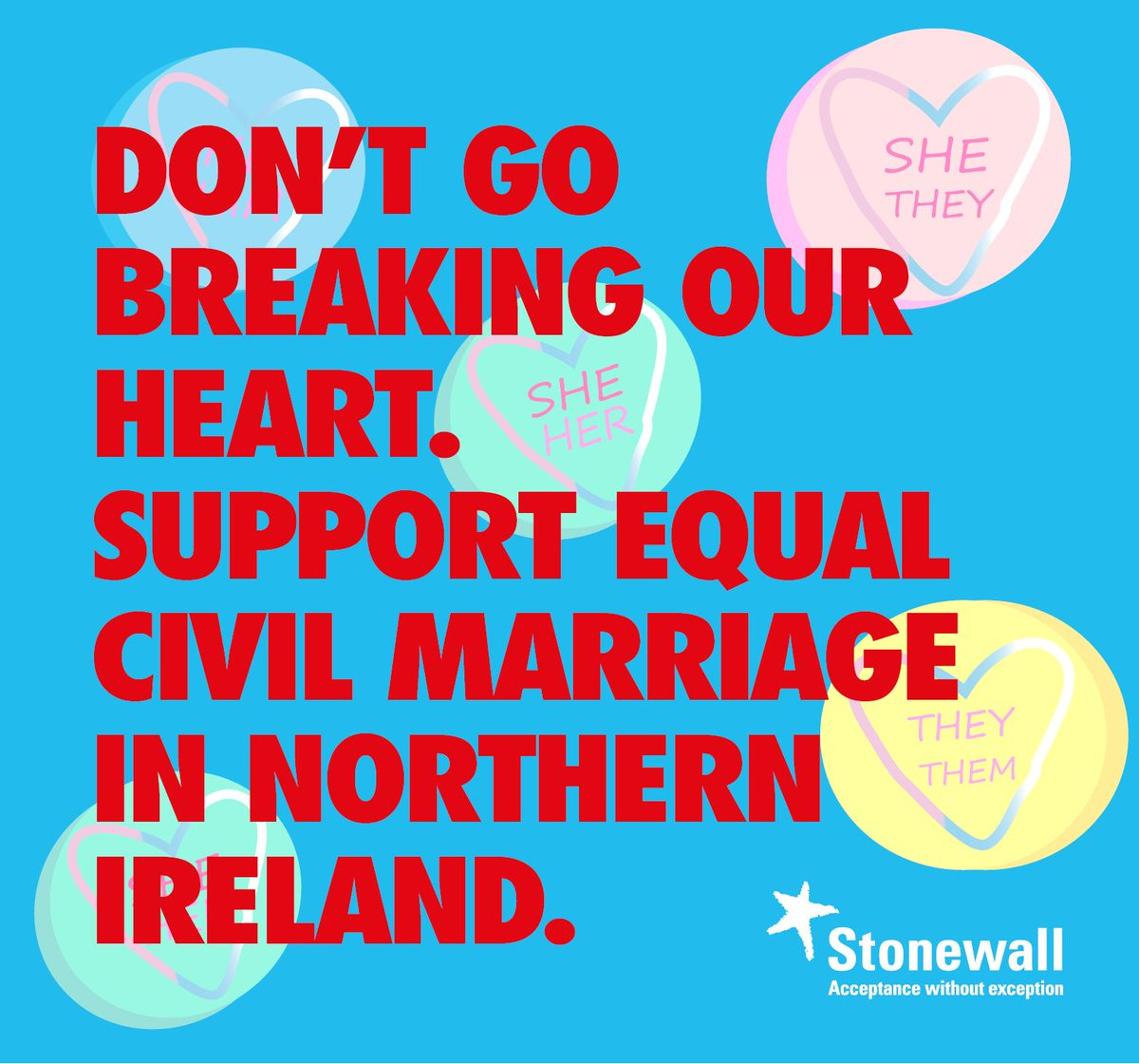 Make love equal this #Valentines Northern Ireland is the only nation in the UK which does not recognise same-sex marriage. You can help change that - send  @Love_EqualityNI's letter to the Government https://loveequalityni.org/make-love-equal/#Valentines2019…