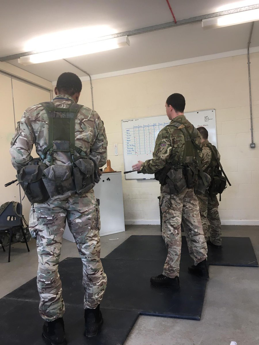 Military training week for the #Hanson32s, but before you get to shoot, you must pass your weapon handling test.  Safety is paramount in everything we do.  @HMSExploit