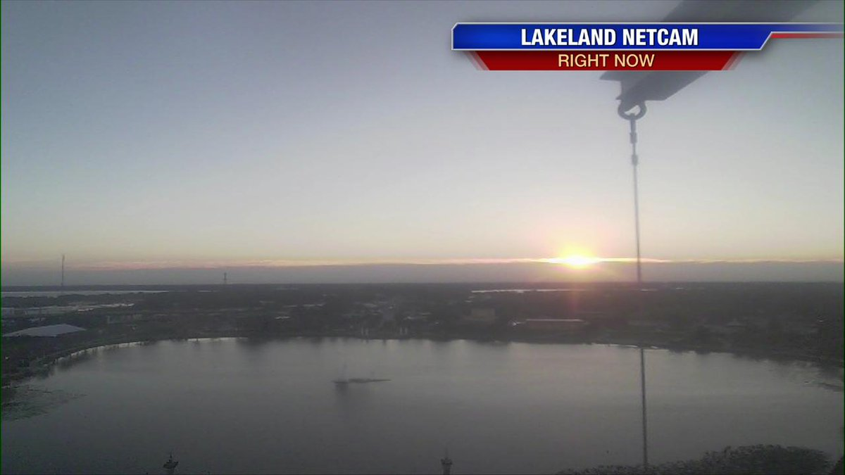 A stunning sunrise over Lakeland this Valentine's Day morning. This sets the stage for a lovely 7 day forecast.