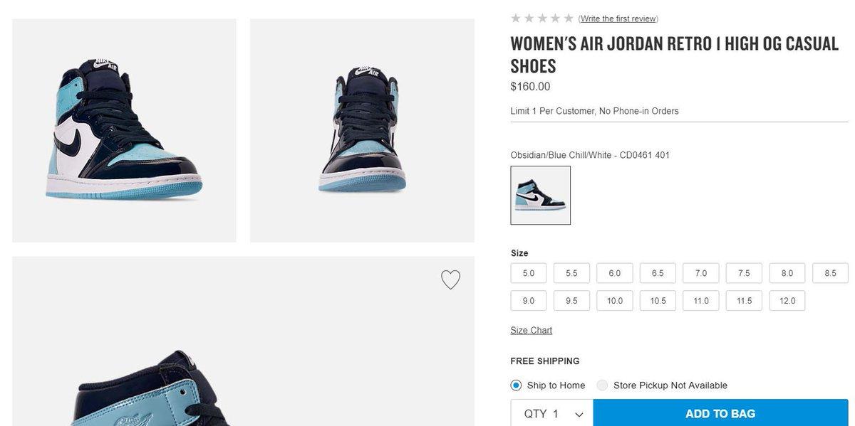 f2b7d95bb93 ... Air Jordan 1 Retro High OG 'Blue Chill' => http://bit.ly/2S0CIZI pic. twitter.com/yFFTjKNGmN. 7:07 AM - 14 Feb 2019