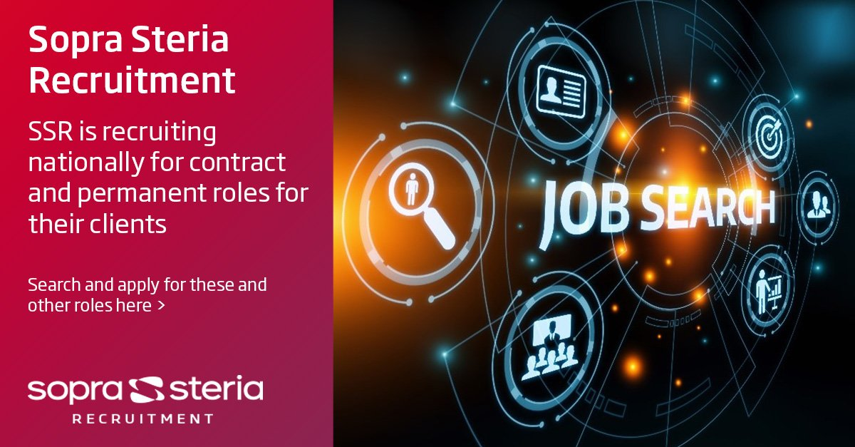 In the market for a new role? Take a look at the latest contract and permanent roles @SopraSteria_Rec is recruiting nationally for its clients - https://trisys.soprasteriarecruitment.co.uk/apex/?CandidateVacancySearch/0/sopra-steria-recruitment … #newjob #contractroles #permanentroles