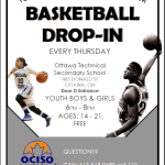 Image for the Tweet beginning: Drop-In Basketball takes place on