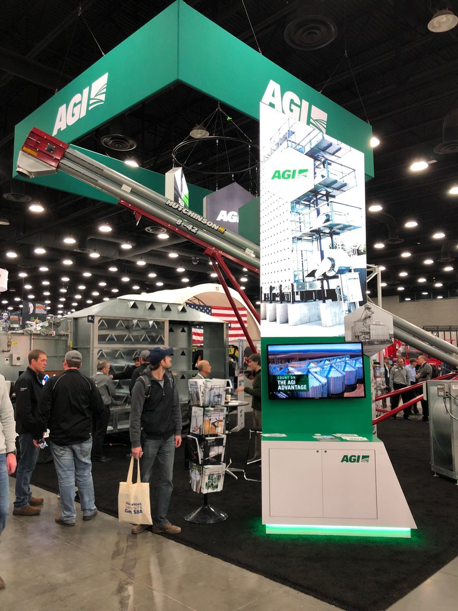 What a great first day of #NFMS19. Did you get a chance to stop by our booths (7423 & 8548)? Stop by today and learn how AGI's full system farming solutions can work for you.