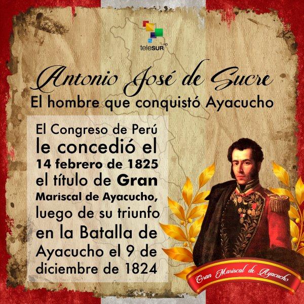 Telesur Tv Twitterren Antonio José De Sucre El Hombre Que