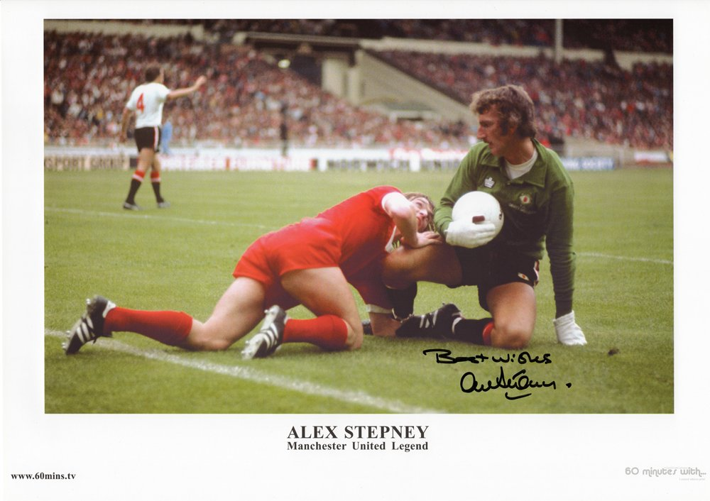 Here at M.U.S.T. we are doing a sale on this Alex Stepney hand signed print from the 77 FA Cup Charity Shield coming in at just £10!   Follow the link below to see this amazing deal on our website and to see which other products we have online...  LINK: https://bit.ly/2rB4Ub0