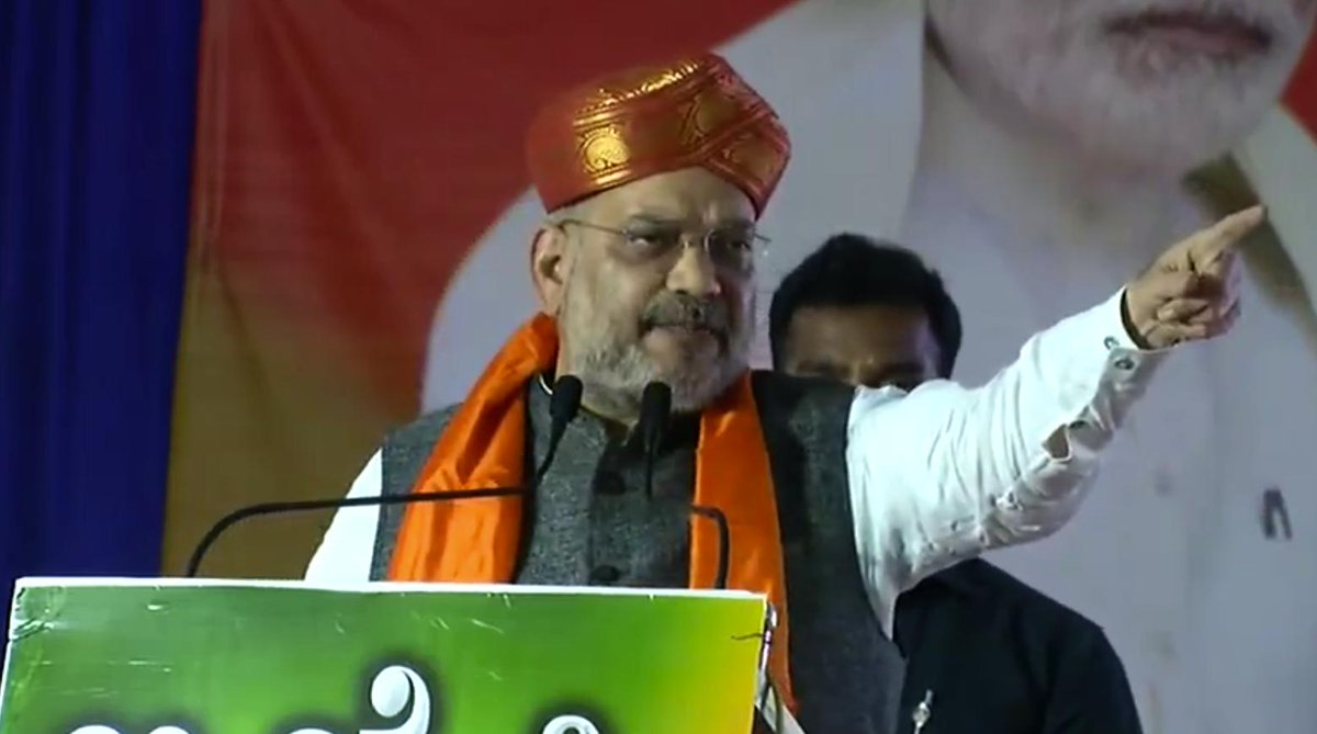 I would like to ensure everyone from here that Ram Mandir will be constructed in Ayodhya: Shri @AmitShah  https://t.co/nP9OpcM50m