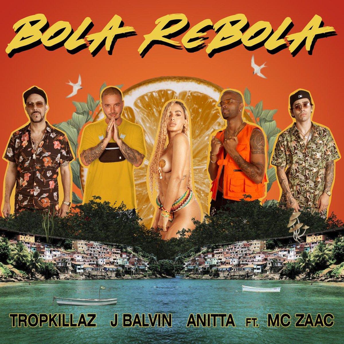 """São reveladas capas de """"Bola Rebola"""", single do Tropkillaz com Anitta, J Balvin e MC Zaac"""
