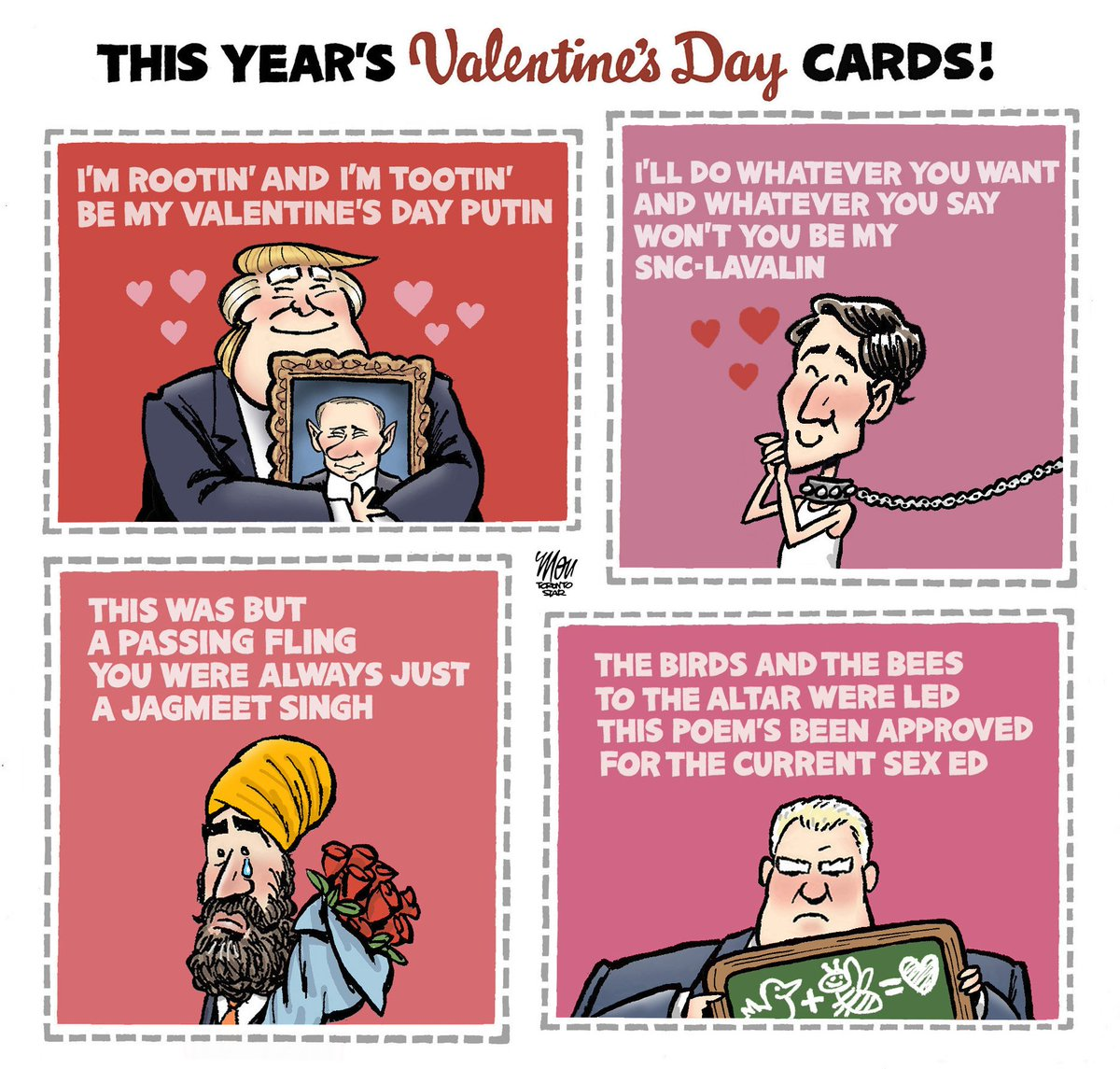 Here's today's #ValentinesDay cartoon in @TorontoStar