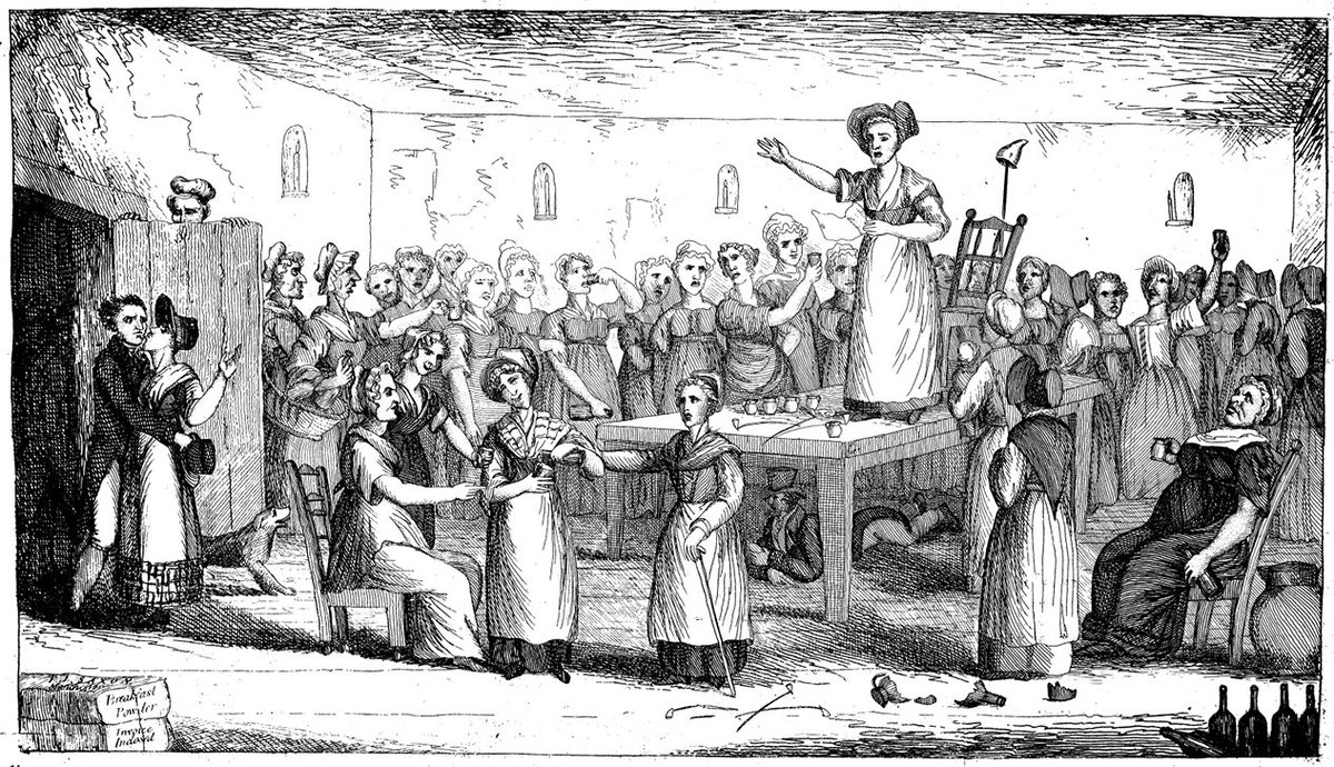 Female Radical Reformers of Manchester (from the Comet, 1822)