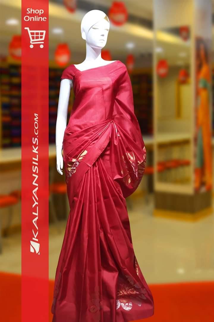 Red Color Soft #SilkSaree @ #kalyansilks com Shop Online: https
