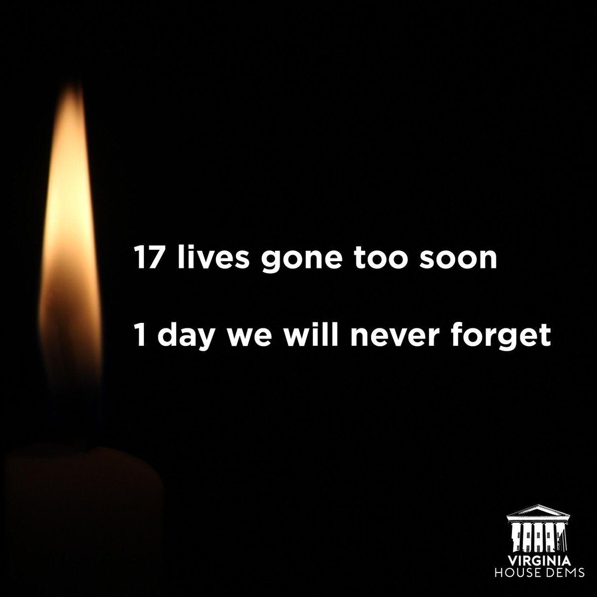One year ago today, 17 students and staff were murdered by a mass shooter in Parkland, Florida.   This day will haunt us forever. May we never stop working to prevent senseless gun violence.