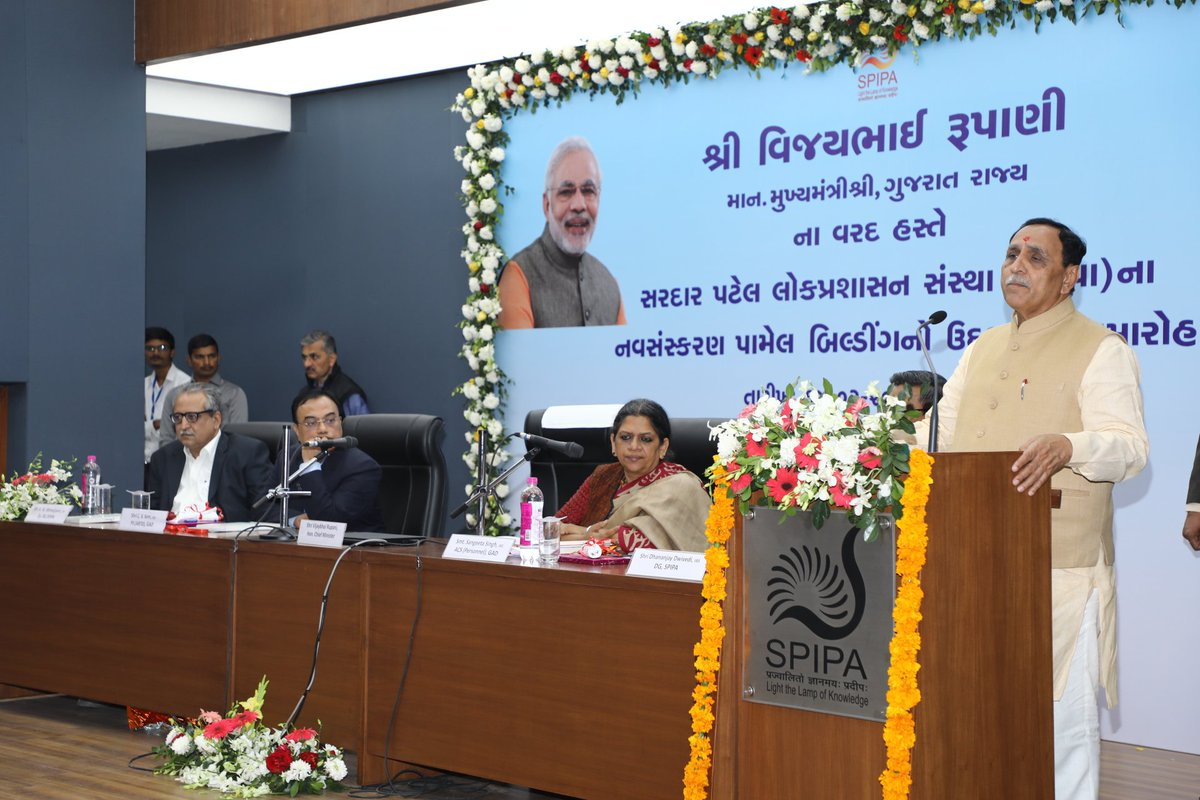Gujarat Govt has setup a working environment that ensures the core benefits of public welfare schemes get delivered to real beneficiaries and the eye-catching development & #GoodGovernance of the state has become a subject-to-study for the nation & world : CM Shri @vijayrupanibjp