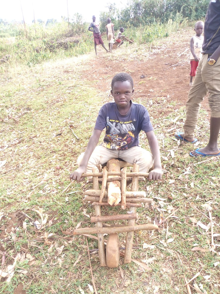 A wooden bike from young Ugandan innovator.