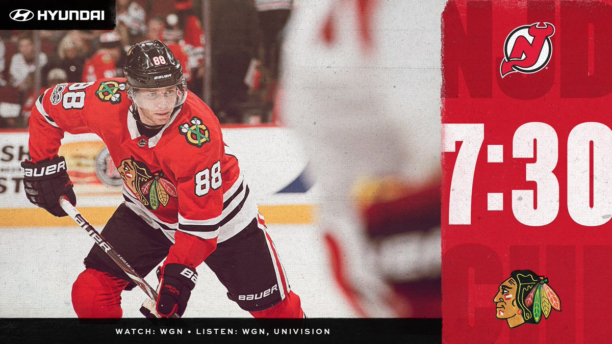 It's a #ValentinesDay GAMEDAY! The #Blackhawks are back home, where their hearts are, to host New Jersey.  #CHIvsNJD Preview: http://onego.al/86m630nH1Ae