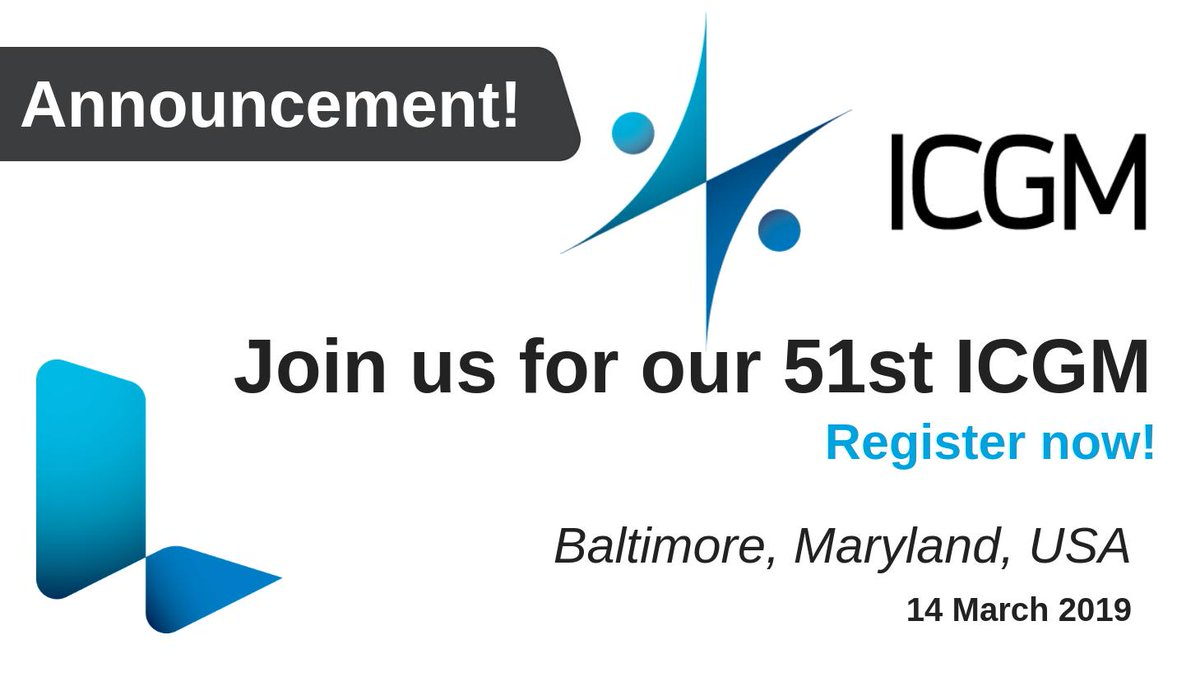 There's still time to register to attend our 51st ICGM, to be held in Baltimore, USA, next month! Join us for a day of presentations, interactive workshop sessions and networking. http://bit.ly/2Si5Als #InSilico #Computational #Toxicology #QSAR #LhasaLimited #DrugDevelopment