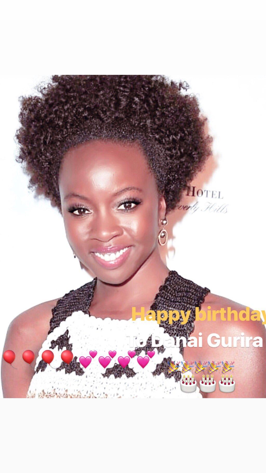 Happy birthday to Danai Gurira    we love you and support you always!!!!