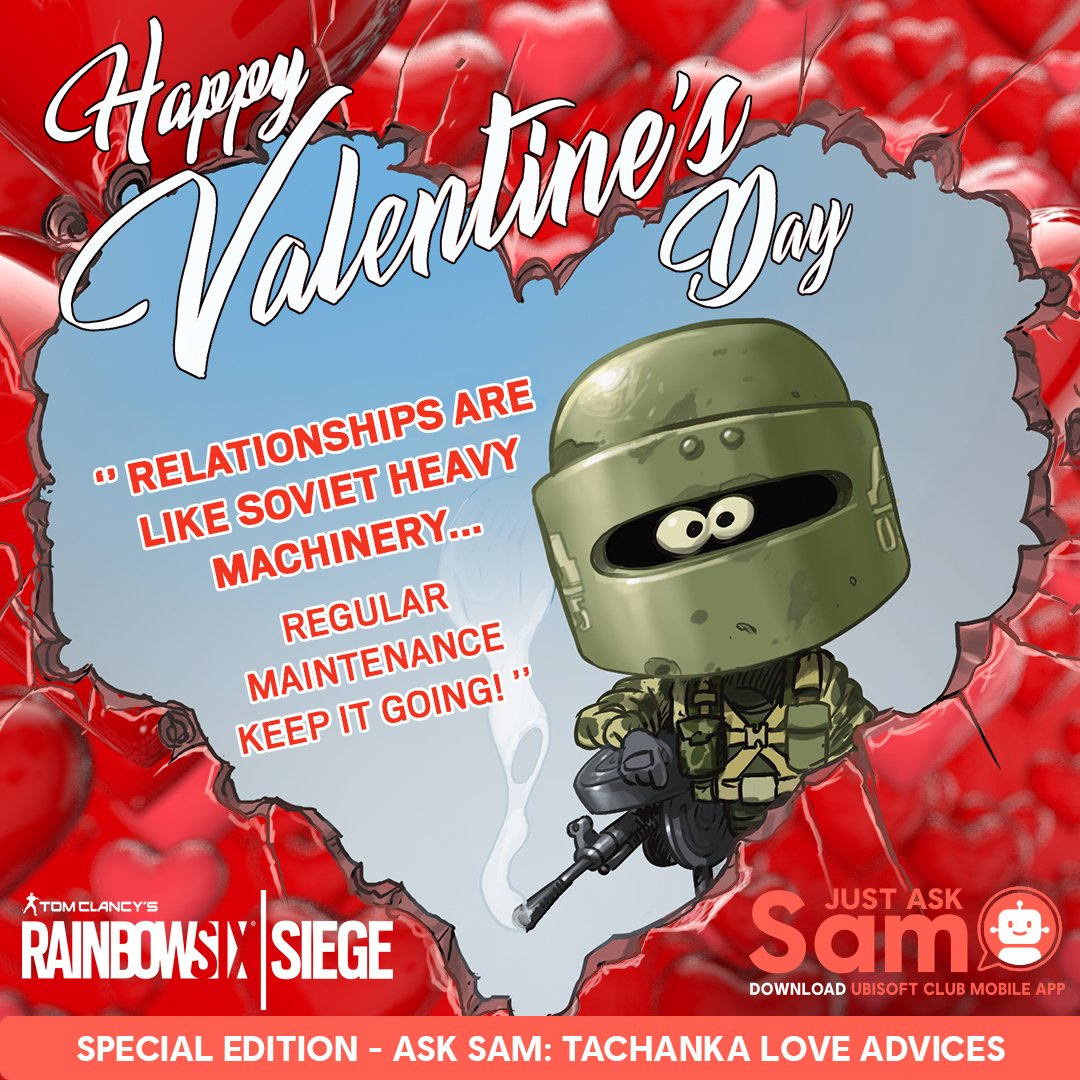 Ubisoft Club Ubisoft Connect On Twitter We All Know Tachanka Won T Be Very Busy During The R6 Invitational That S Why I Asked Him To Play Cupid For Us
