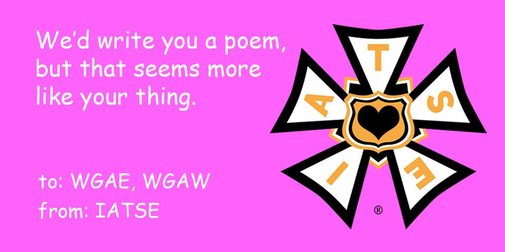 Happy Valentine's Day! @WGAWest @WGAEast