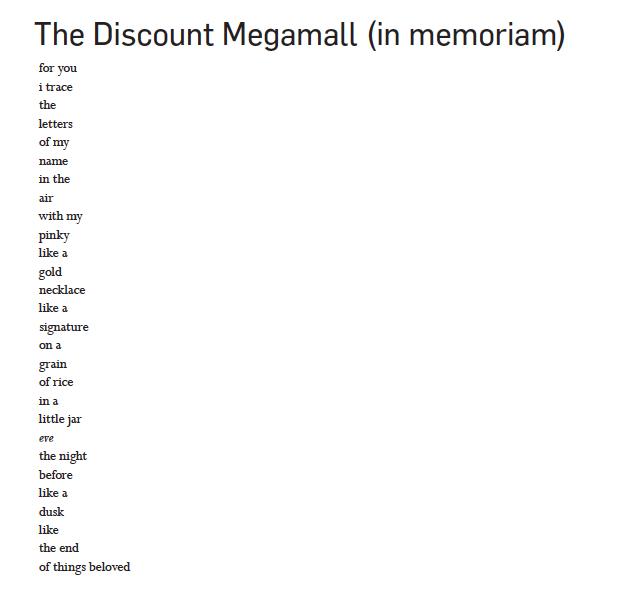 The Discount Megamall (in memoriam)
