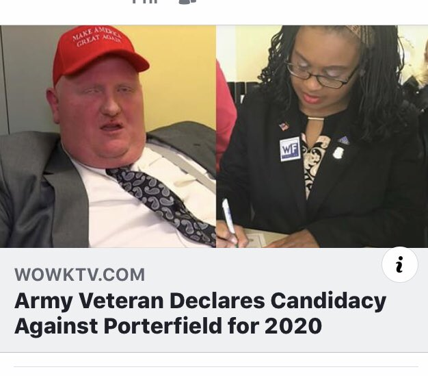 I filed to run against him 3 days ago. We the people of Mercer County Love our neighbors. And I plan to prove that by winning this race! https://l.facebook.com/l.php?u=https%3A%2F%2Fwww.wowktv.com%2Fnews%2Fwest-virginia%2Farmy-veteran-declares-candidacy-against-porterfield-for-2020%2F1773651062&h=AT0fcStCdVYUVtxl3my6IOzxd-OHocIPYVShh3vuezqVa781UF0q-GsRj_cFt8lN9A5M2fBeyrQN2LCchWPB47g-GgS8aRCHMLRyjcVN2TUars5WzHHLHqpiG9CnGL-u3ryo9_S6rpHK&s=1 …