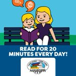 Image for the Tweet beginning: Reading with your children for