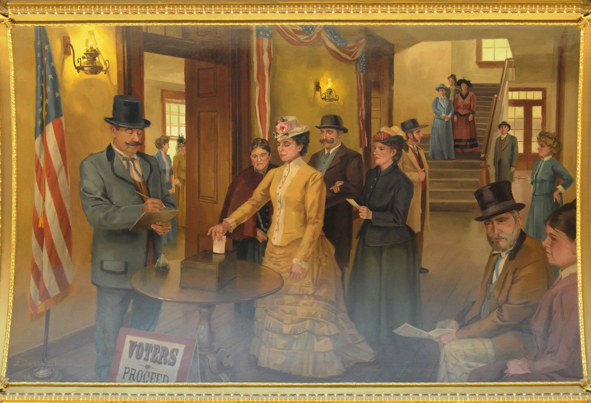 #OTD 149 years ago, Seraph Young became the first woman to vote in the United States—just two days after the Utah Territory passed its suffrage laws. 25 Utah women voted that day, nearly four decades before passage of the 19th Amendment. #utpol