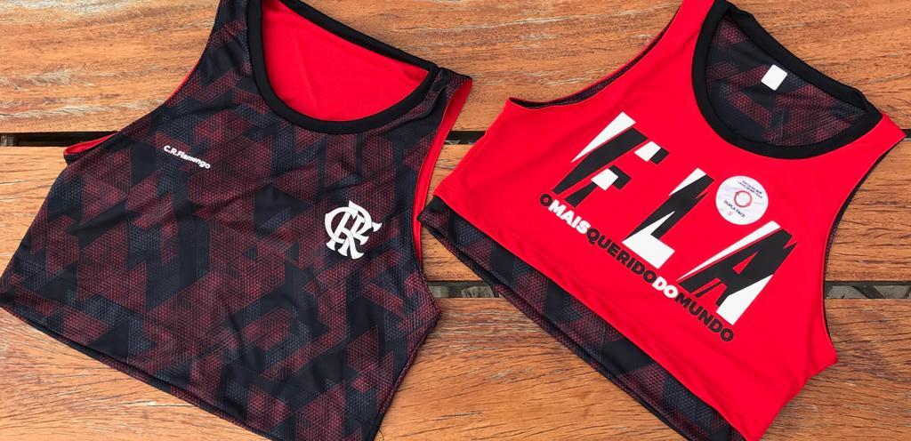 db802e7b434 Se chama Cropped ZOOM Flamengo. Preço cheio é de R  109