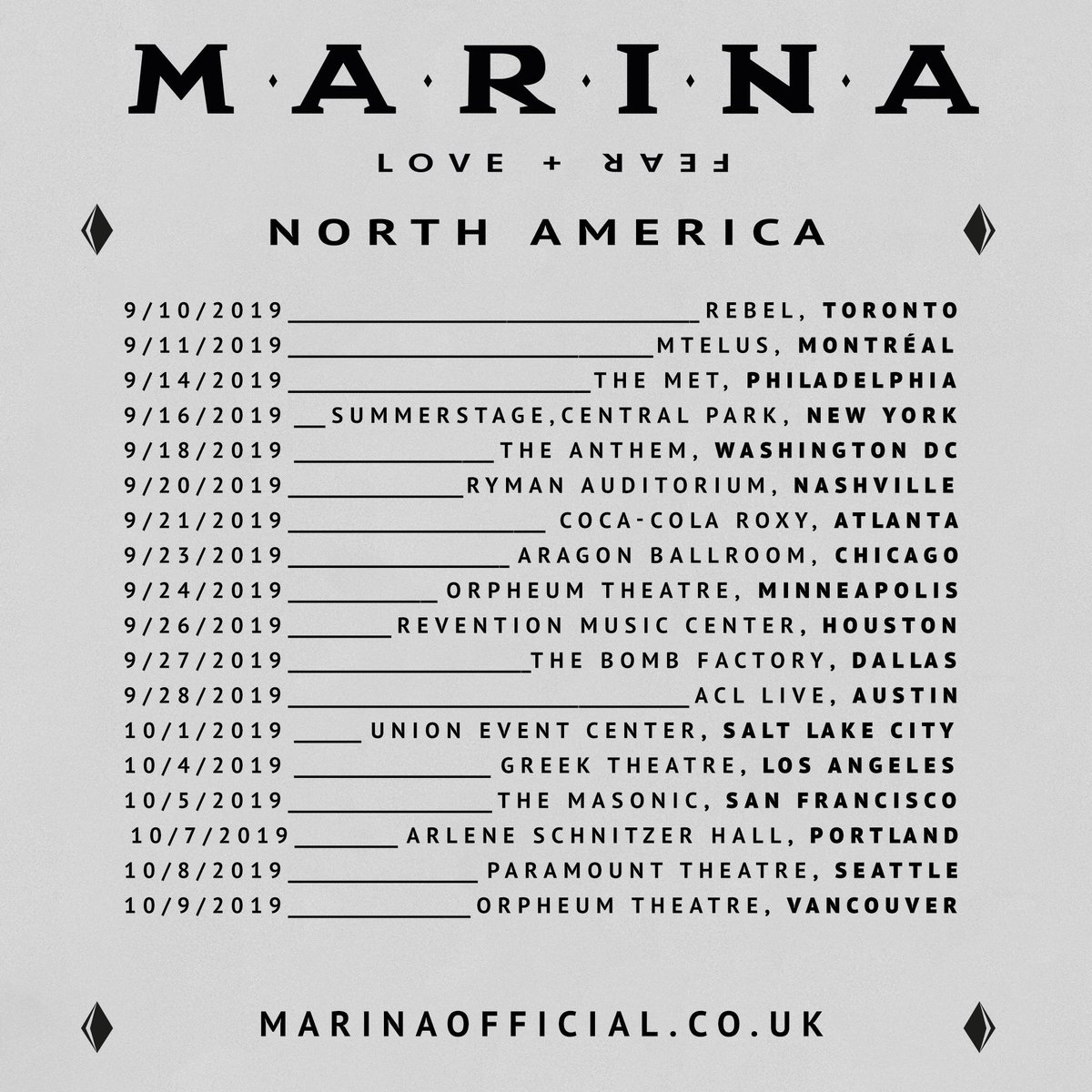 Marina (& the Diamonds) tour dates, new album info, track
