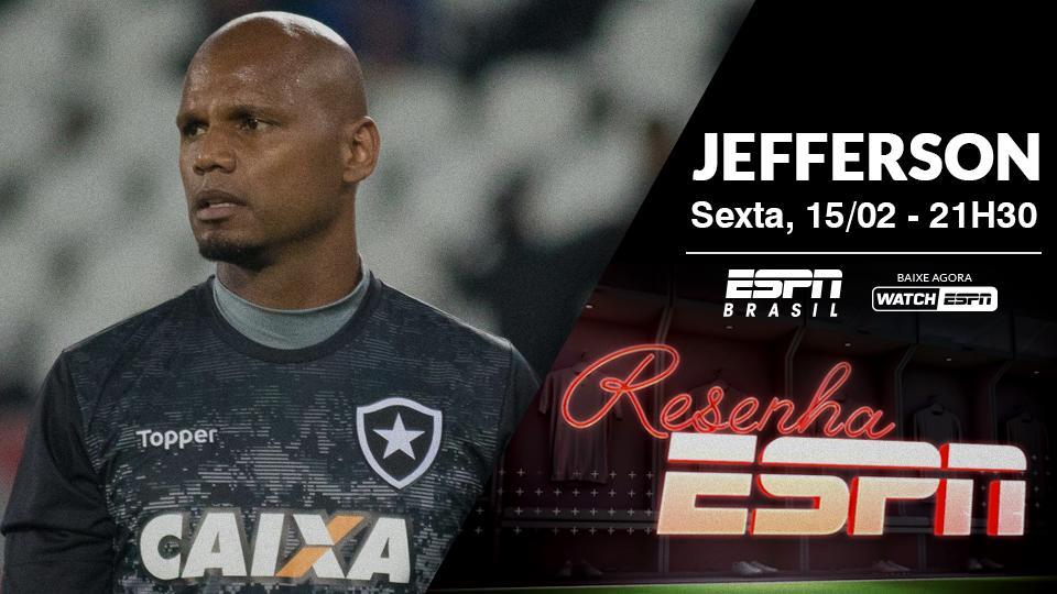 O @plihalespn recebe o ex-goleiro do Botafogo e da seleção brasileira, Jefferson, no Resenha desta sexta-feira. Não perca, às 21h30, na ESPN Brasil e no WatchESPN 💻   #ResenhaESPN