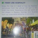Image for the Tweet beginning: Finish line hospitality during @Tour_du_Rwanda