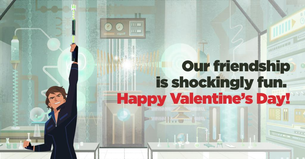 Happy Valentine's Day from Crackle! Who gives you that spark of joy? #CarmenSandiego #VILEsoVile