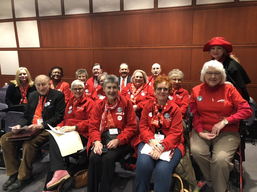 Busy day at the Legislative Office Building. Starting the day with our amazing @AARPCT volunteers in the Aging Committee to show our support for home and community-based services and programs that keep CT residents in their homes as they age.