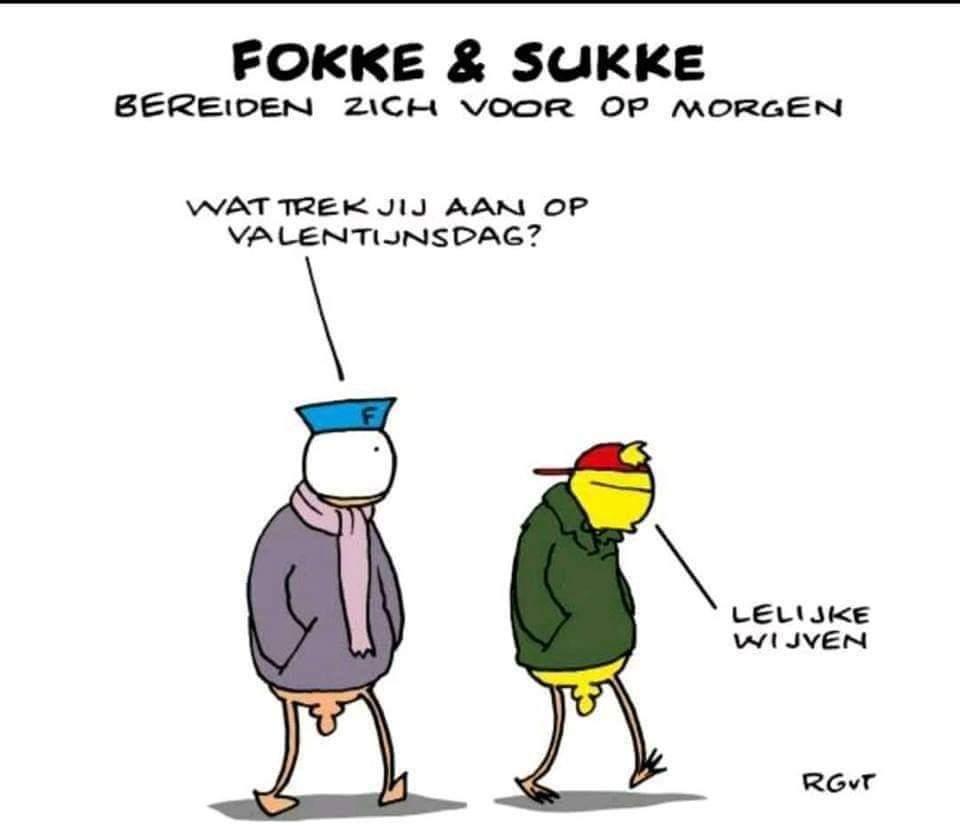 Gezien op Facebook (plaatje hoort eigenlijk op 13 februari) : #Valentines_day #valentijnsdag2019