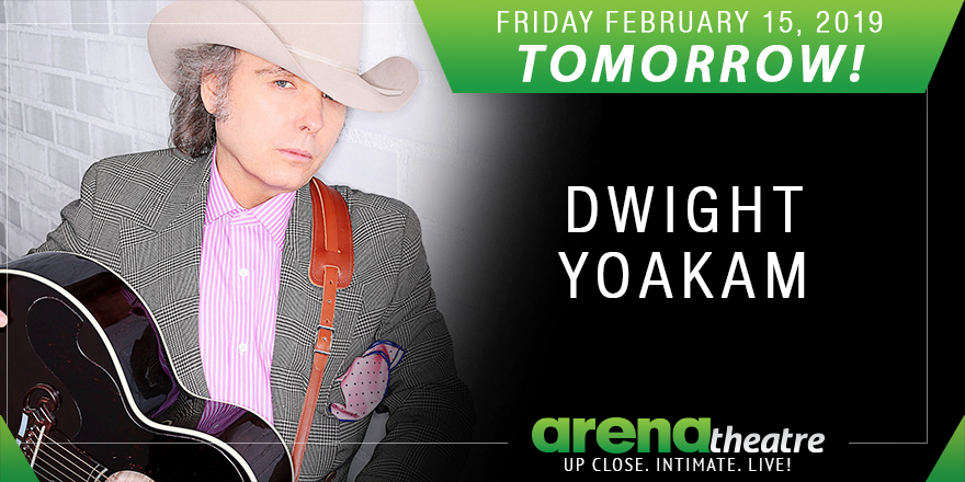 TOMORROW! 🔥 Dwight Yoakam and Scooter Brown Band LIVE in concert tomorrow night at #ArenaTheatre! Friday, February 15th, 2019. Concert is going to be lit! 🔥. Details: https://bit.ly/2E2ZQDj -- #LiveShow #ValentinesConcert ❤️