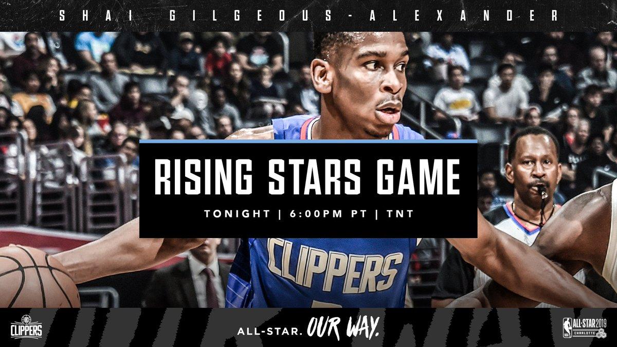 .@shaiglalex takes center stage tonight on @NBAonTNT.  #MTNDEWICERisingStars   #NBAAllStar