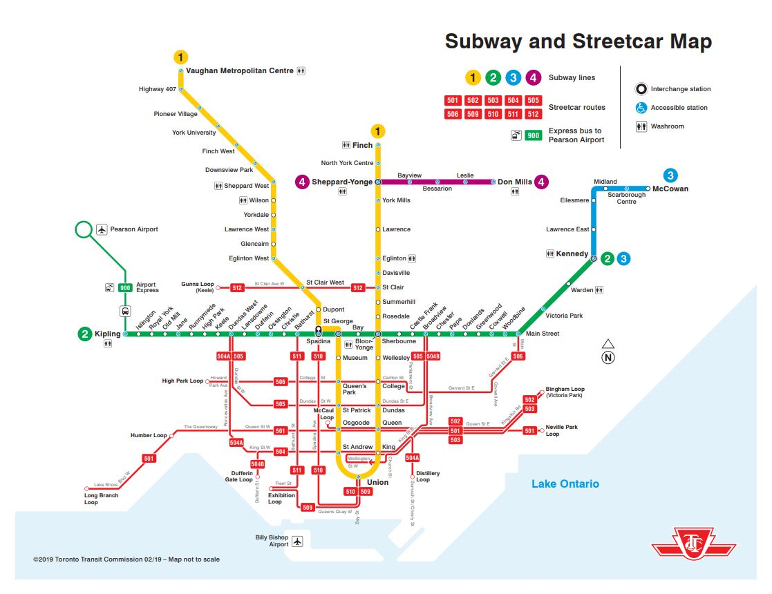 Toronto Subway Map Print.Ttc Design On Twitter A Printable Version Of Our New Subway And