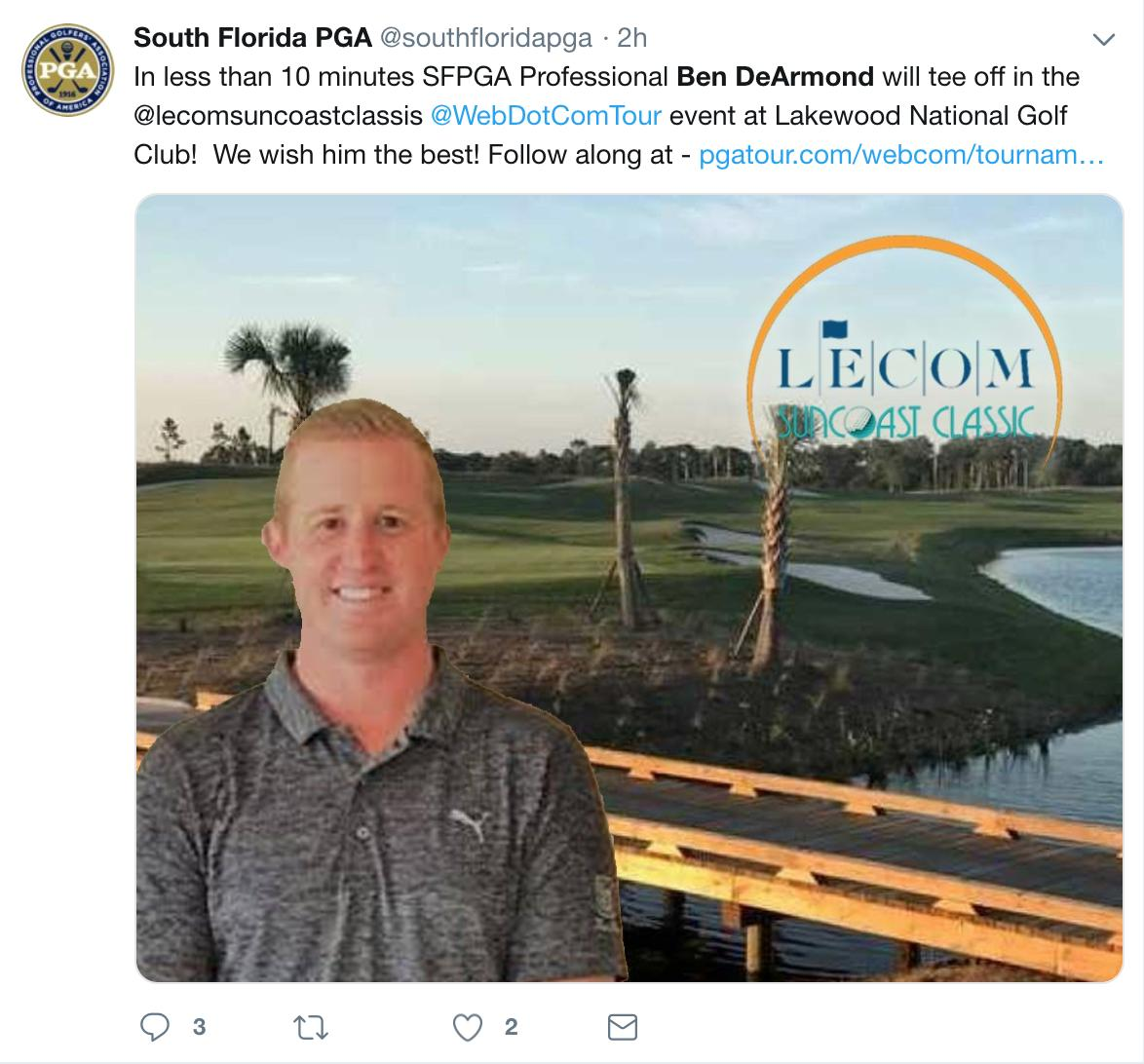 Golf pro's tournament hopes dashed after shooting a brutal 17 on second hole