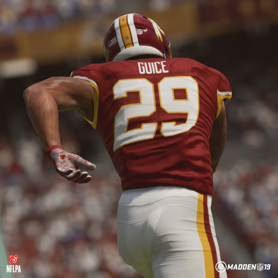 Madden 19 lauds Derrius Guice as a 'player to watch' over the next season