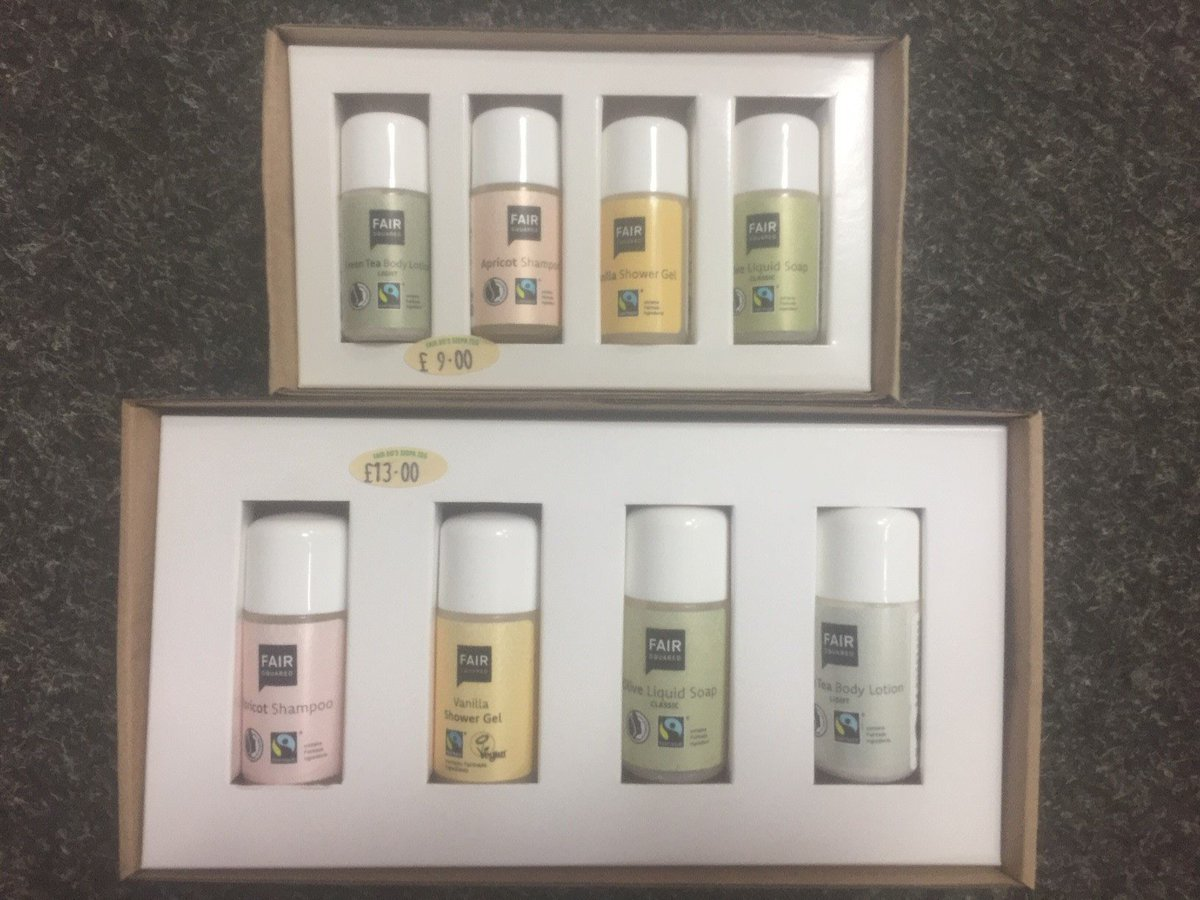 test Twitter Media - Back in stock: lovely @fairsquared toiletries which are #fairtrade and #vegan. We have shower gel, body scrub, body butter, hand cream and gift sets, which are also ideal for travelling. We also have menstrual cups to continue our mission to reduce waste wherever possible. https://t.co/pjiSK60eQv