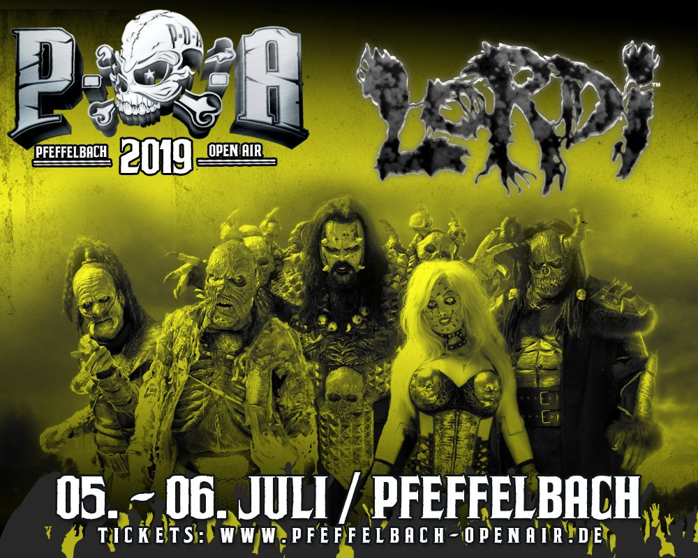LORDI CONFIRMED FOR #PFEFFELBACHOPENAIR!  The festival takes place on July 5th - 6th on the grounds of Pfeffelbach.  Secure your tickets for the #sexorcism here: https://t.co/PuCvdIV7HH https://t.co/o6xWgx8CvB