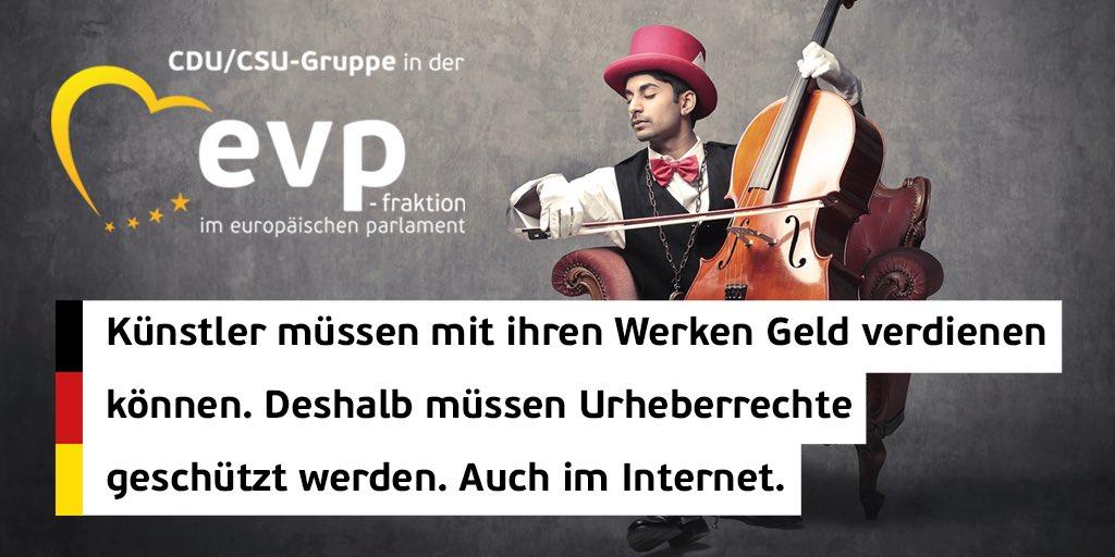 Gute Nachrichten für Europas Kreative: Dank der neuen #Copyright Richtlinie müssen die großen Plattformen endlich Künstler, Musiker und andere Kreative angemessen für die Nutzung ihrer Werke vergüten. Gut für den Erhalt unserer vielfältigen Kulturlandschaft! #DeinEuropa 🇪🇺