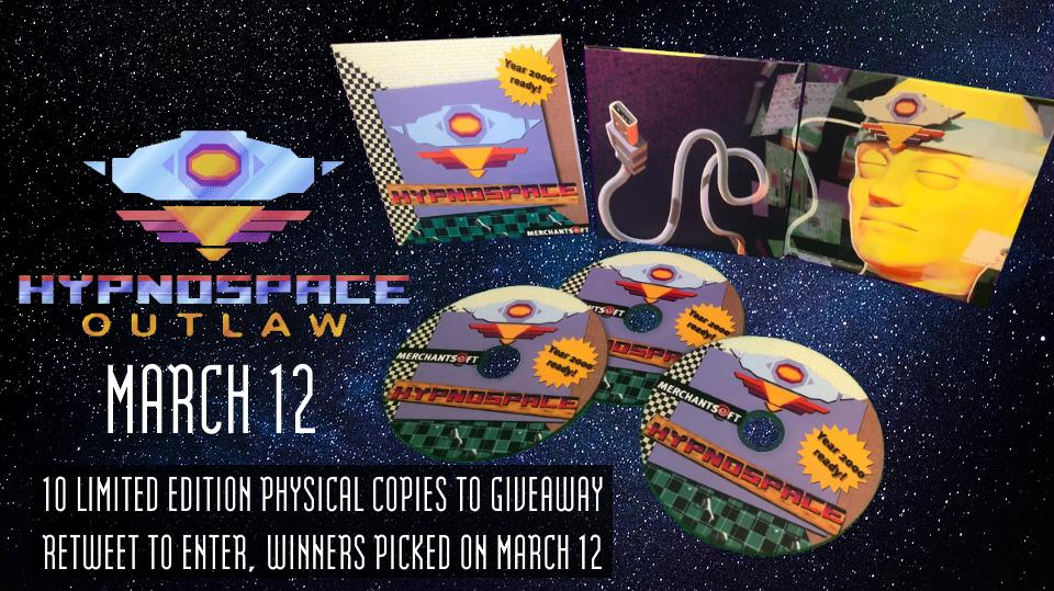 🎉🎉So excited to announce that Hypnospace Outlaw will launch on Steam on March 12 🎉🎉 https://store.steampowered.com/app/844590/Hypnospace_Outlaw/…  To celebrate, we've had some *extremely* limited edition physical Hypnospace CDs created :D  Simply RT this for your chance to win!