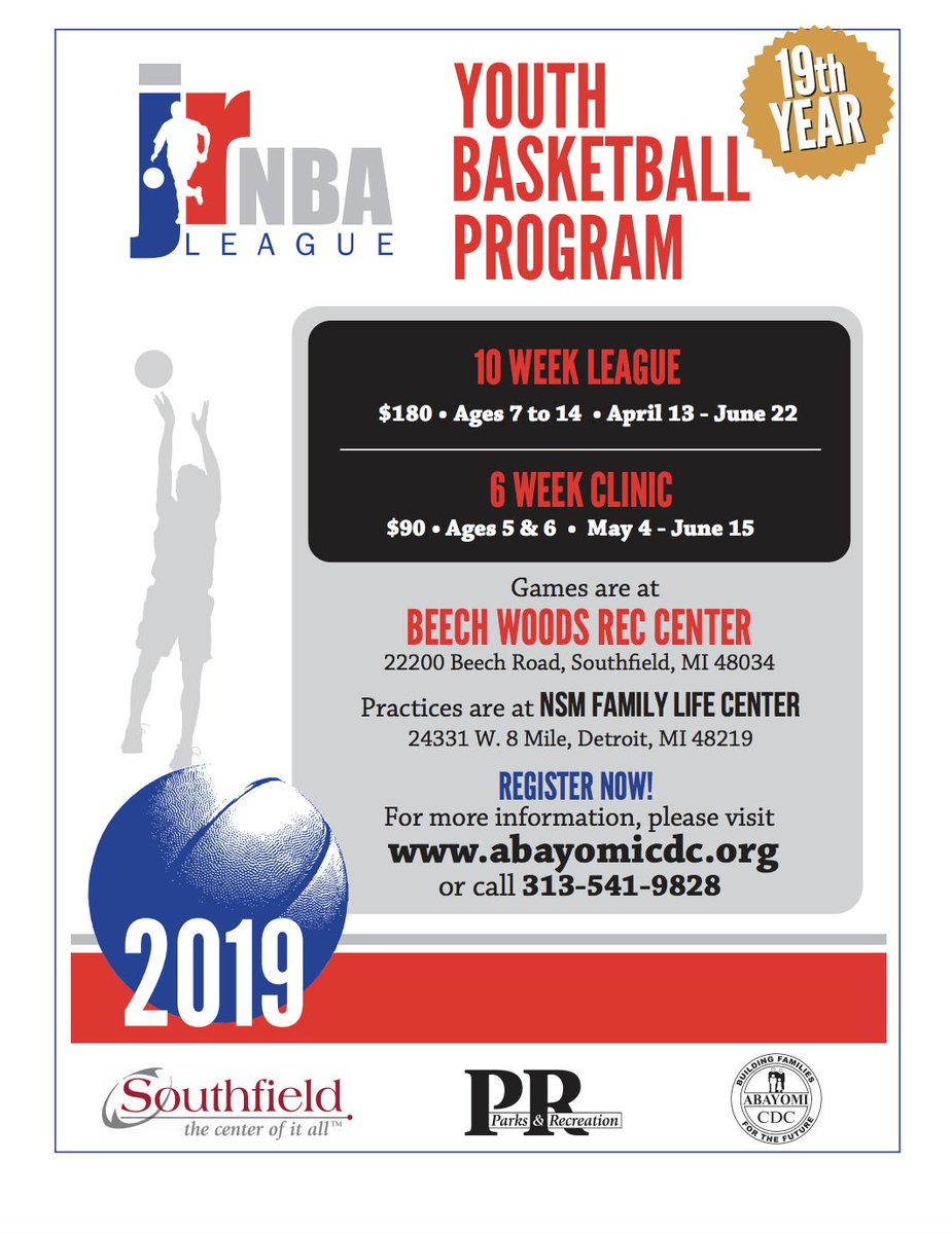 test Twitter Media - The 19th season of The Jr. NBA Youth Basketball Program is officially here! Join us for another jaw dropping, ball bouncing, shot clocking season full of excitement and good sportsmanship.  Registration is now open - sign up today! https://t.co/ZtoxVXXfSc  #AbayomiCDC #Detroit https://t.co/pCdU3etxuk