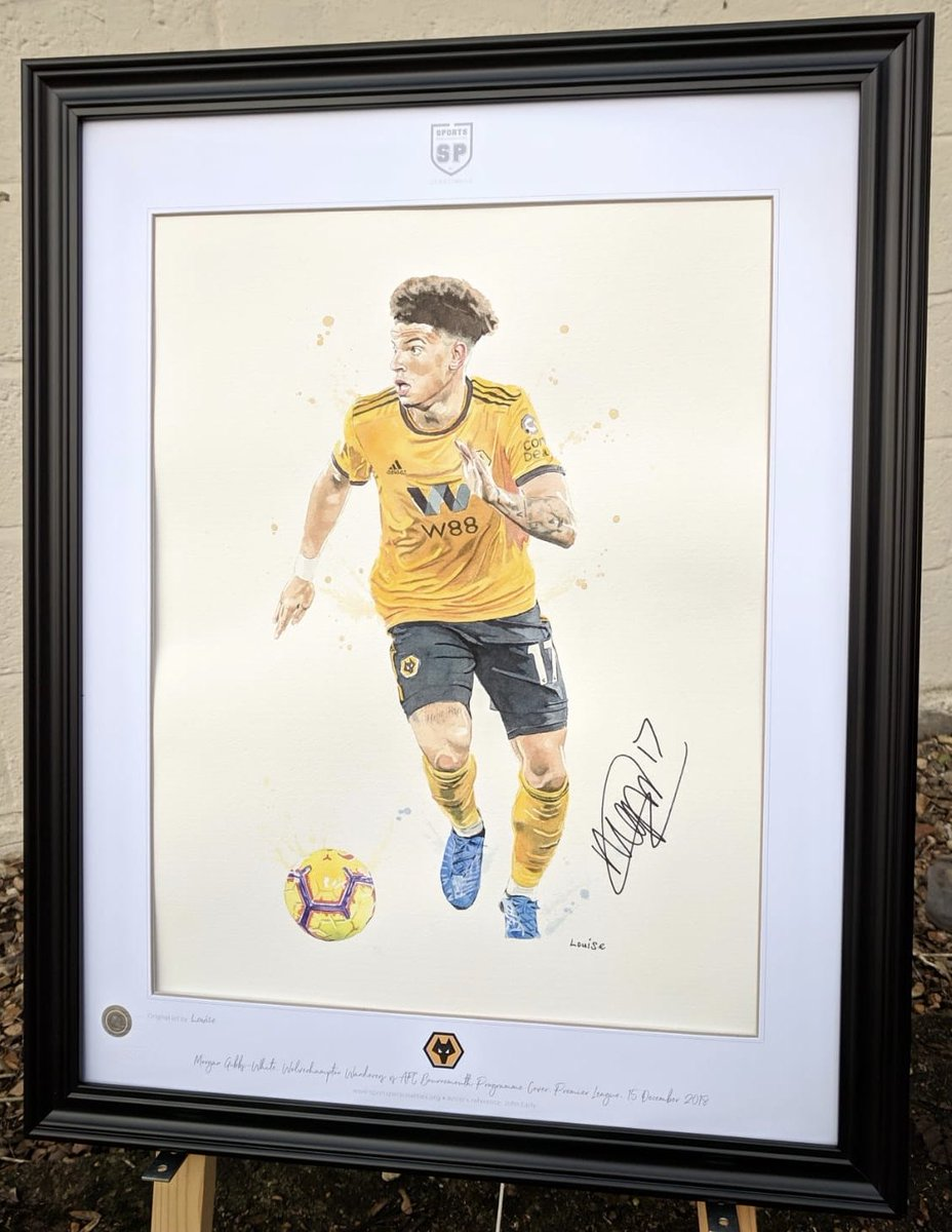 BID NOW (ends 9pm Sunday) for my paintings of @Morgangibbs27 🏴 & @heldercosta_ 🇵🇹, two of six #wwfc original watercolours available in our charity auction.. 🐺🎨  Patricio £360 Costa £195 Gibbs-White £195 Traore £170 Saiss £160 Ruddy £155  View/bid 👉 https://bit.ly/2CgnQBY