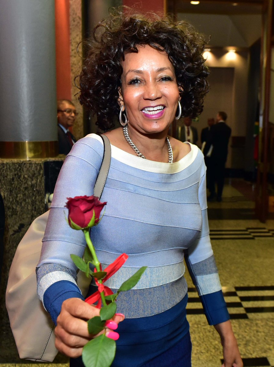 "To celebrate Valentine's Day, President Ramaphosa handed out roses to all the women in Parliament. ""To the women of South Africa, may your Valentine's Day be crowned with love and happiness,"" the President said as he began his reply on the Debate of the SONA in Parliament today."