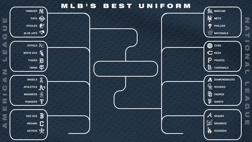 Only one team can have the best look in baseball.     Today, we start the quest to decide who has the top uniform set in the league.