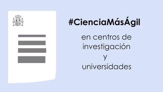 ¿Cuáles son las nuevas medidas aprobadas por el Gobierno para facilitar la investigación en España?  ¡Te las explicamos en este vídeo!  Más info: https://bit.ly/2DZA4jf