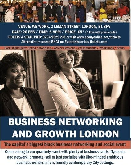 black professional networking events london
