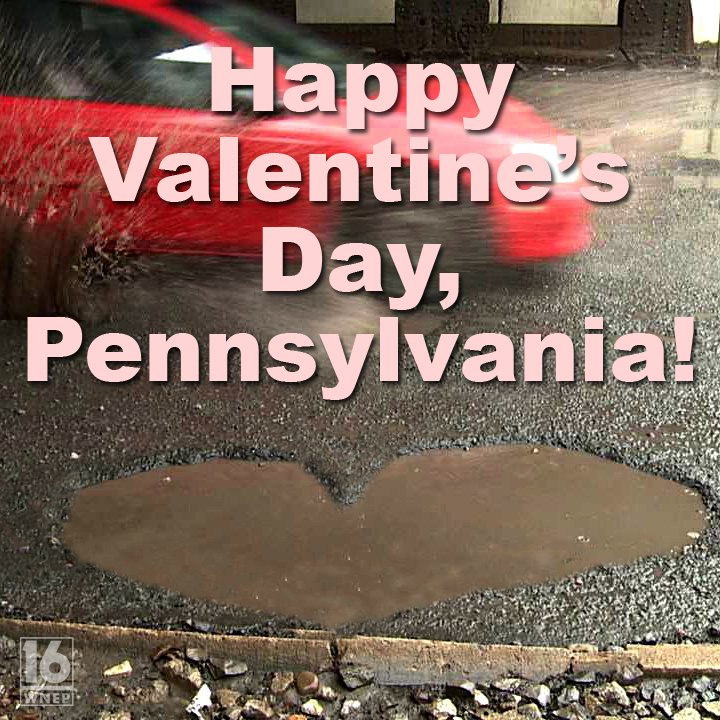 💖 Happy #ValentinesDay! 💖  Our love for you runs deeper than a PA pothole! 😀